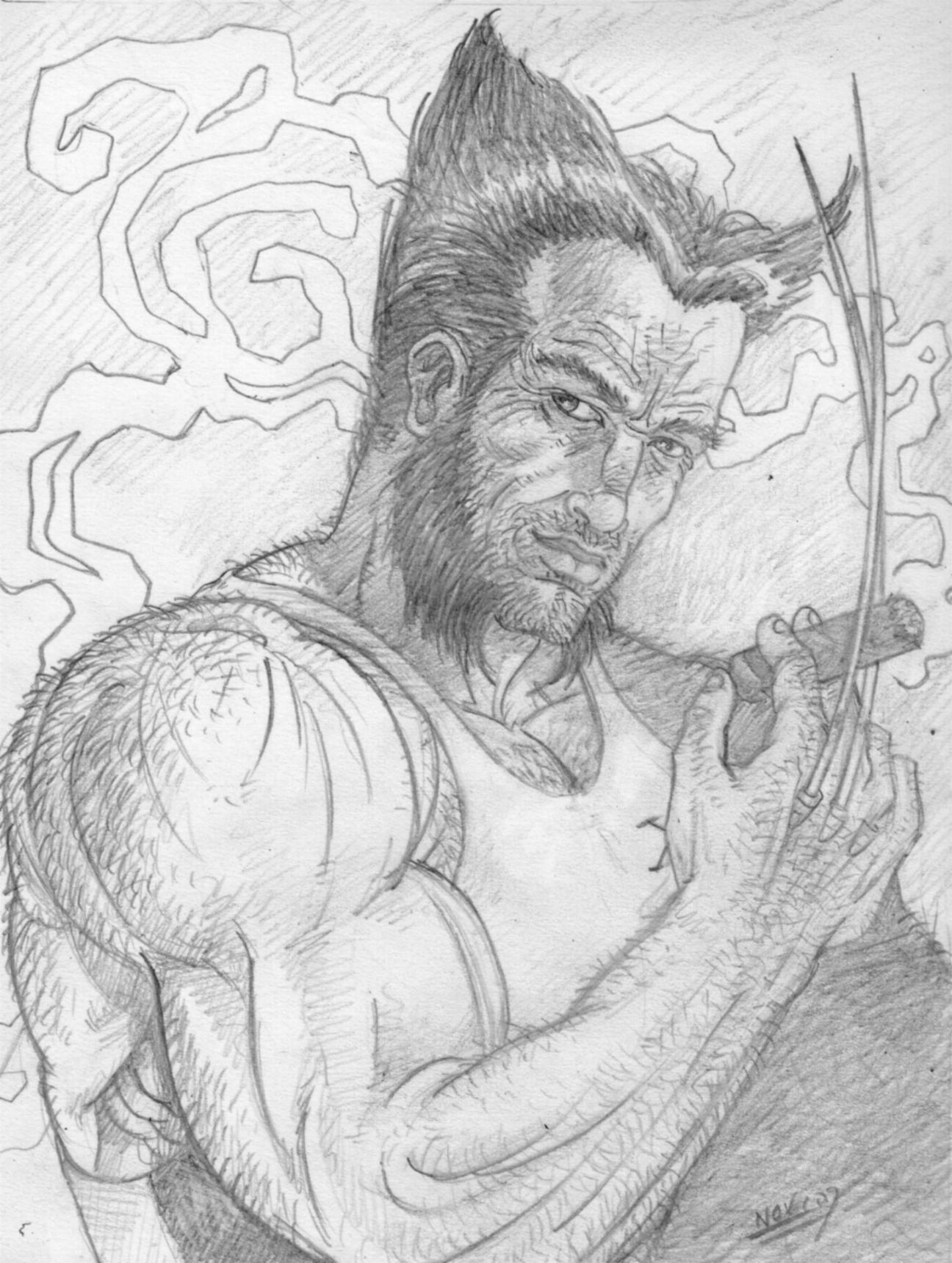 C novel dessins archive du blog wolverine - Dessin wolverine ...
