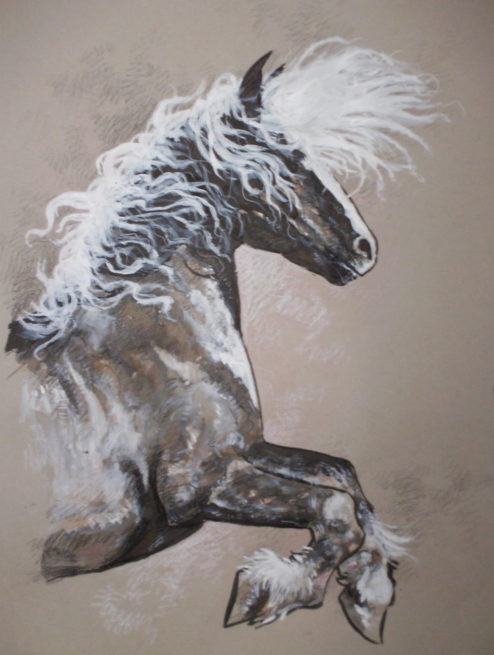 C novel dessins chevaux - Dessin cheval de trait ...