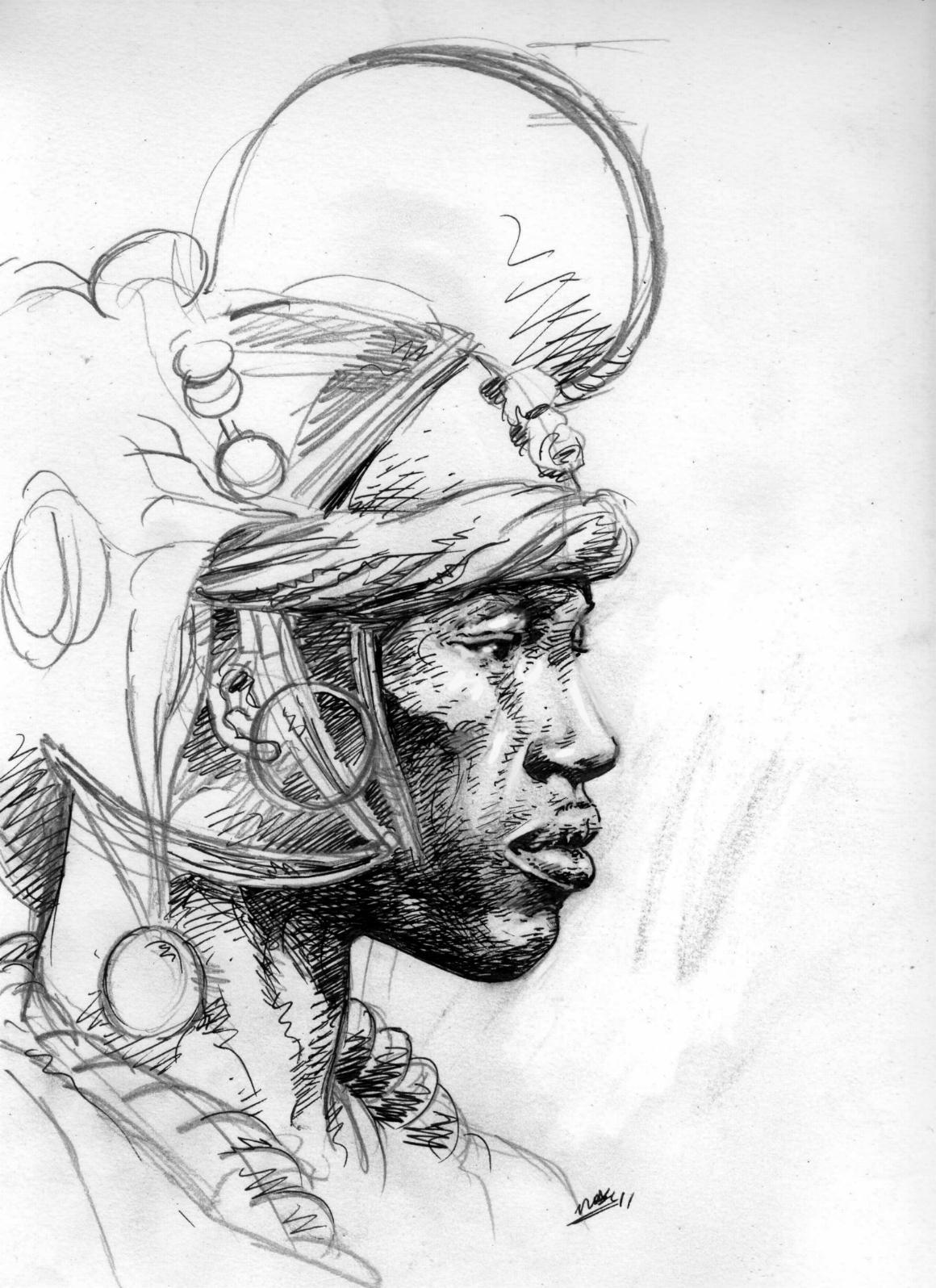 C novel dessins peuples d afrique 3 - Dessin paysage africain ...