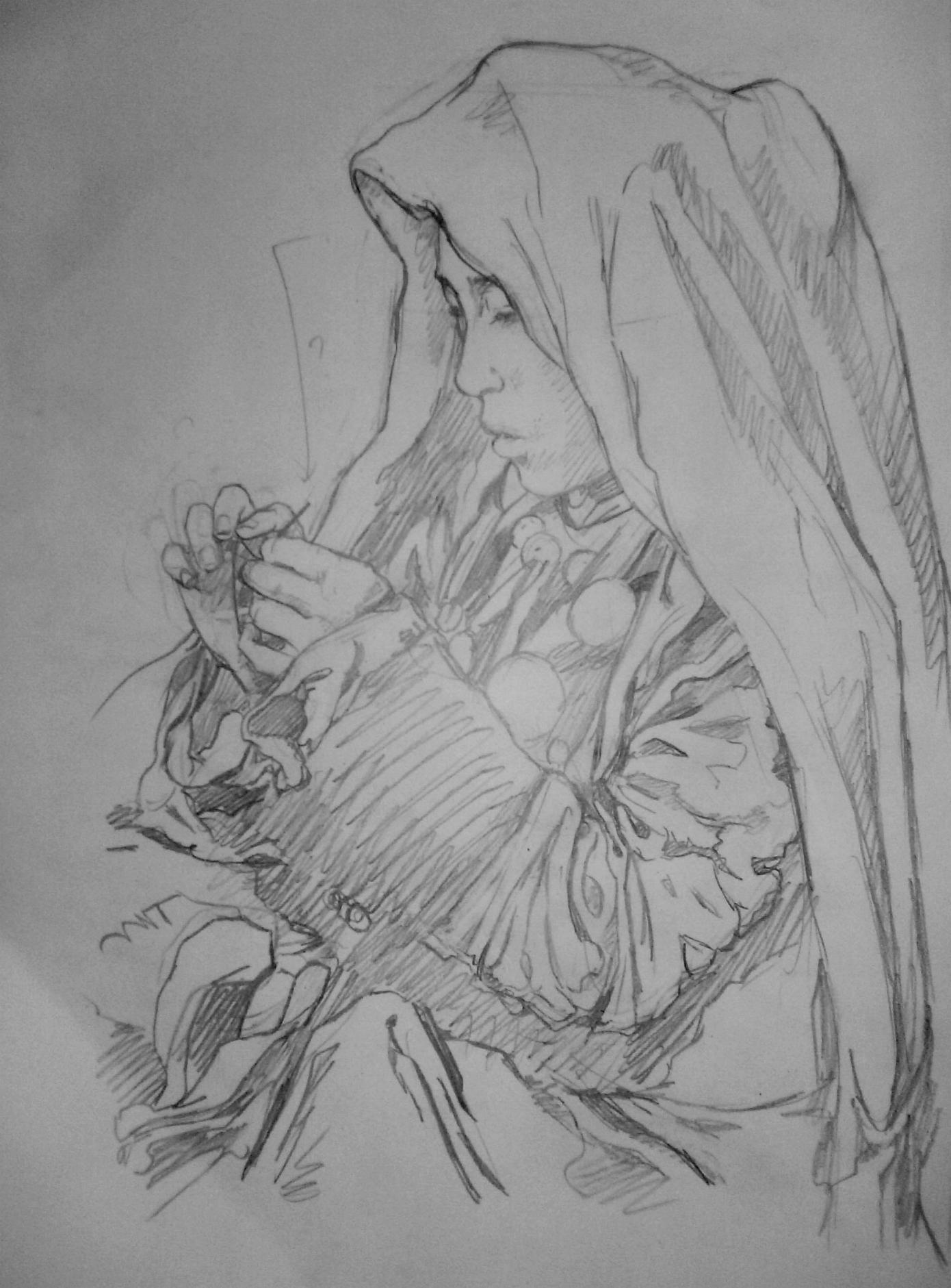 C novel dessins clair obscur - Dessin couturiere ...