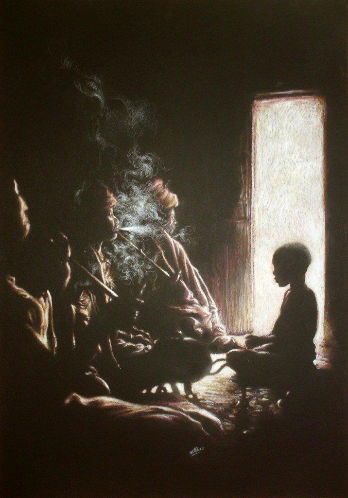 Conseil de famille Xhosa dans clair-obscur HPIM06091-716x1024