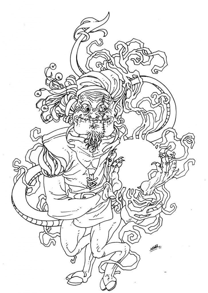 Troll facétieux dompteur de lumière de Cordélia, 6éme lune d'Uranus dans 1887, uchronie en bande-dessinée b3453-726x1024