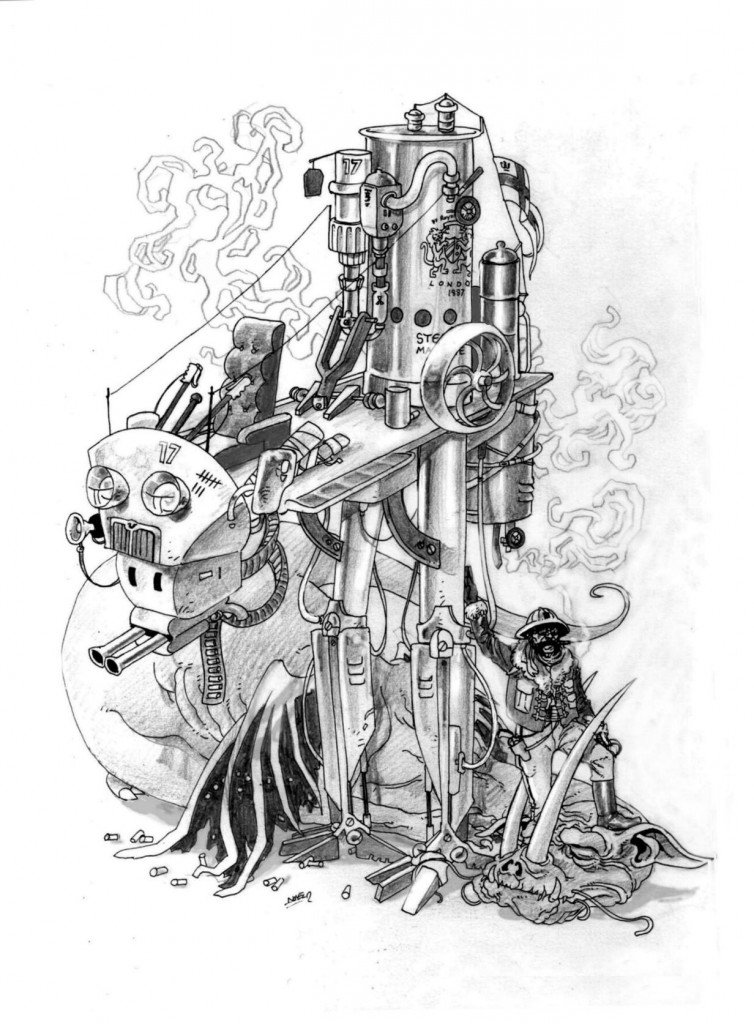 1887 - Chasse au Jabberwocky de la lune martienne de Phobos dans 1887, uchronie en bande-dessinée b360-754x1024