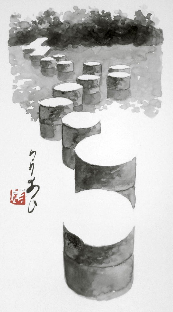 Chemin du lac, sanctuaire Heian, Kyoto, Japon dans Estampes & encres HPIM0735-569x1024