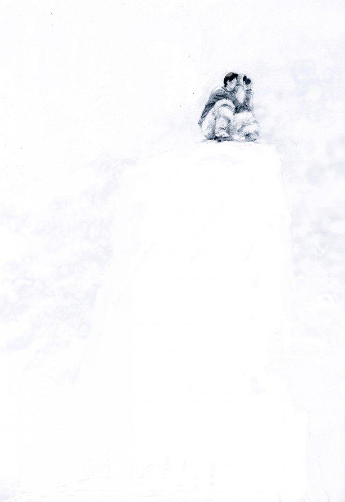 Le guetteur de narval dans peuples des neiges b4082-705x1024
