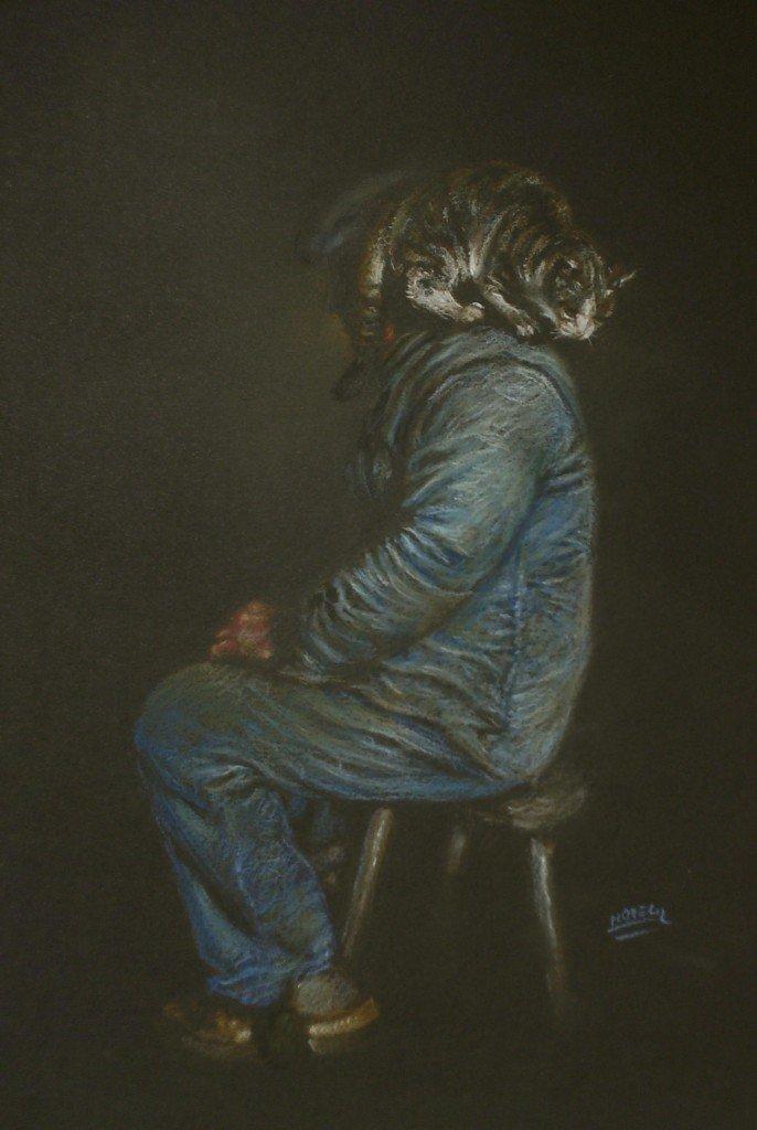 L'homme à tête de chat dans clair-obscur HPIM0892-686x1024