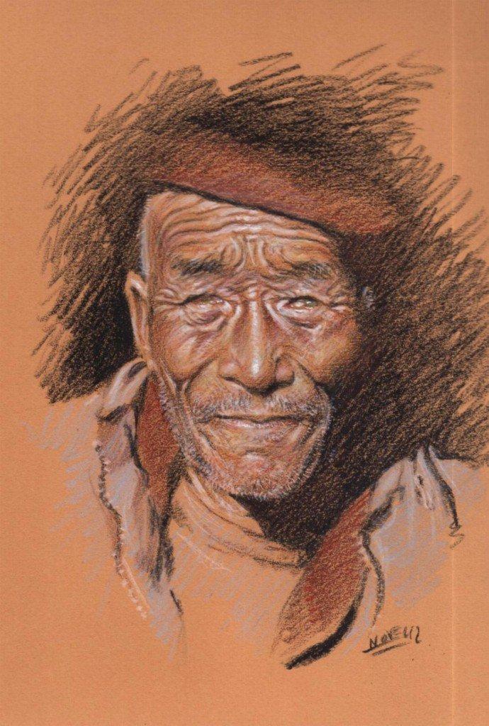 Amchi tibétain dans peuples d'Asie b429-690x1024