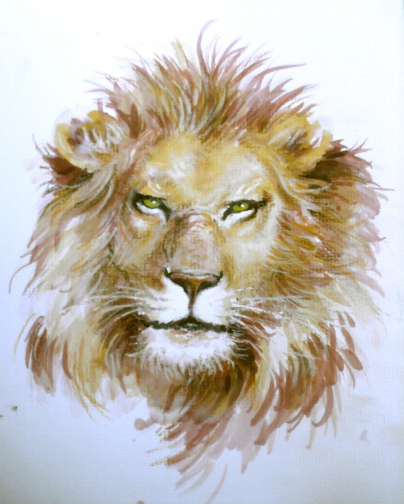 Croquis de vieux lion dans animaux HPIM1018-821x1024