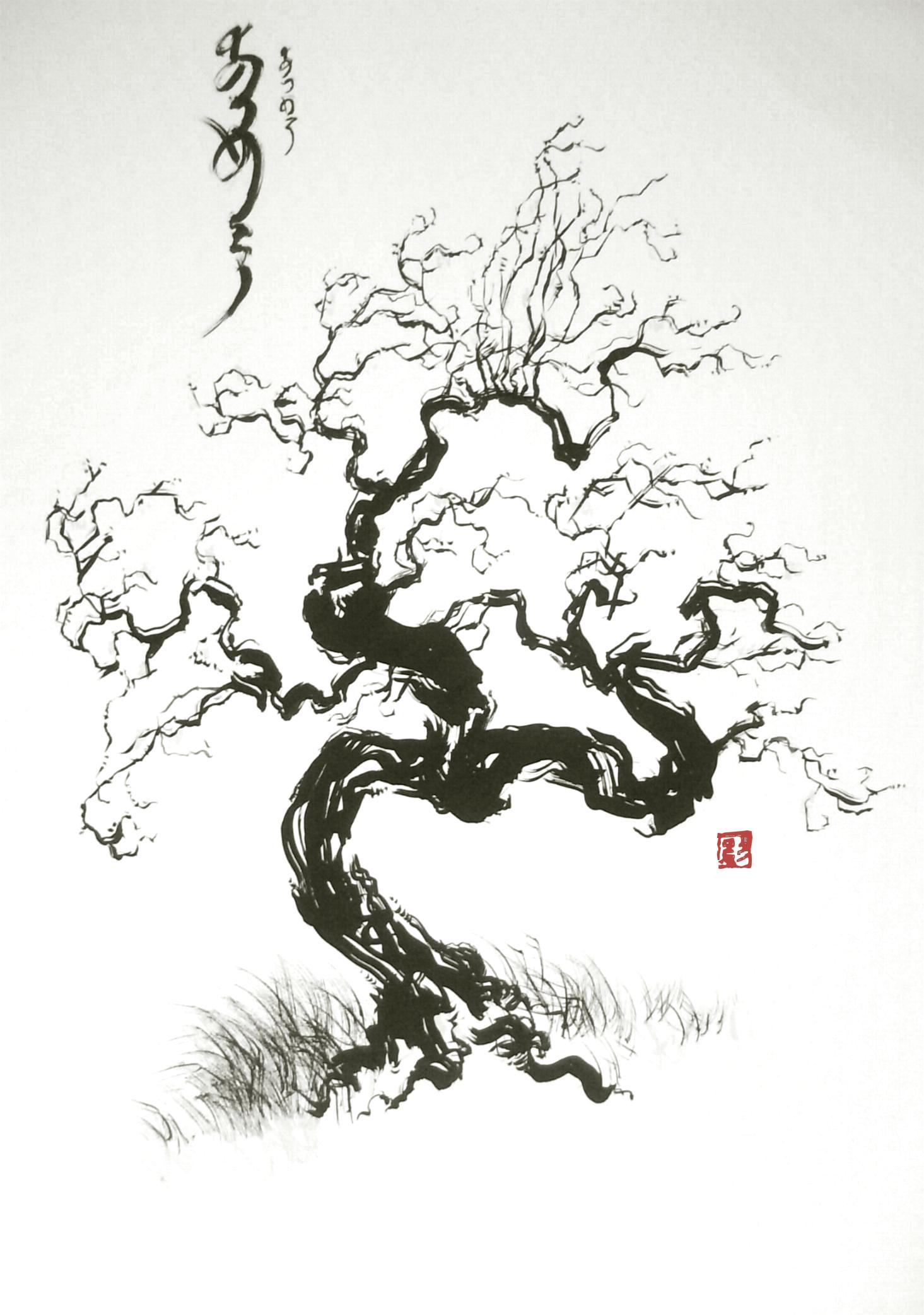 C novel dessins archive du blog arbre vent - Dessin arbre japonais ...