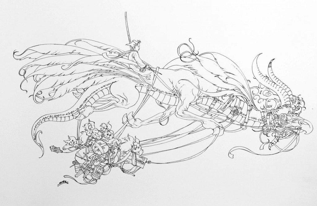 1887 : Equipage de contrebandiers mercuriens, drago-plumes, pilote & auxiliaires dans 1887, uchronie en bande-dessinée img_5988-1024x668