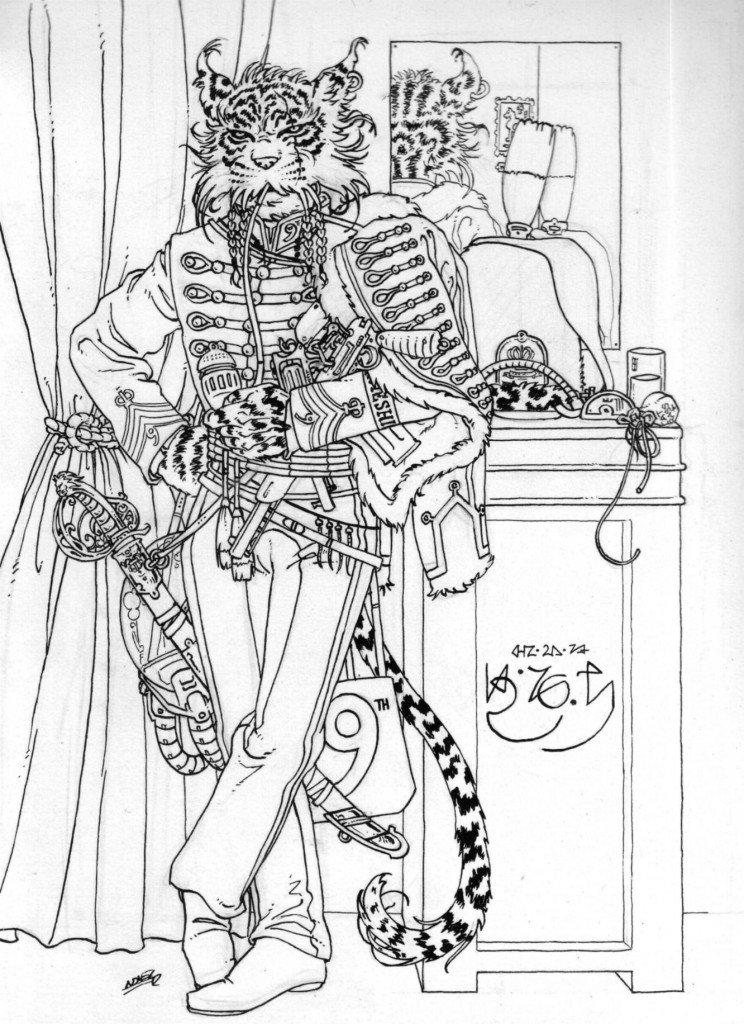 1887 : 9ème Régiment de Hussards Impériaux du Cheshire, Brigade des Hommes-Chats vénusiens dans 1887, uchronie en bande-dessinée b527-744x1024
