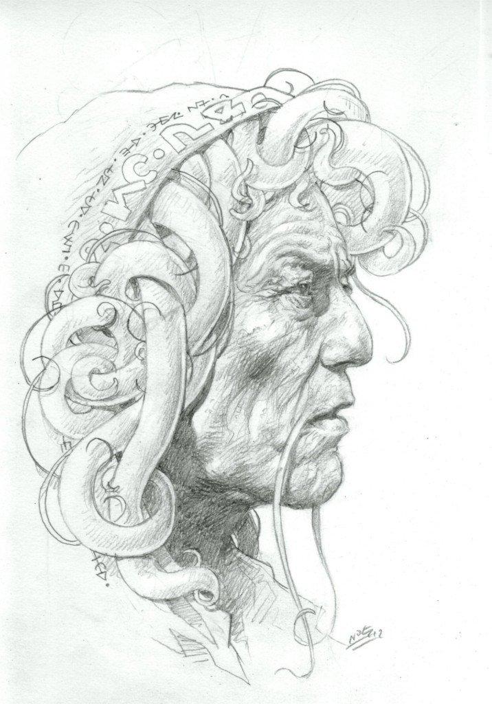 1887 : Chaman de la tribu des Guerriers Gorgones Galatéens, Ligue Rebelle Océanique de la Première Revolte Benthique Neptunienne (1862-1864) dans 1887, uchronie en bande-dessinée b530-716x1024
