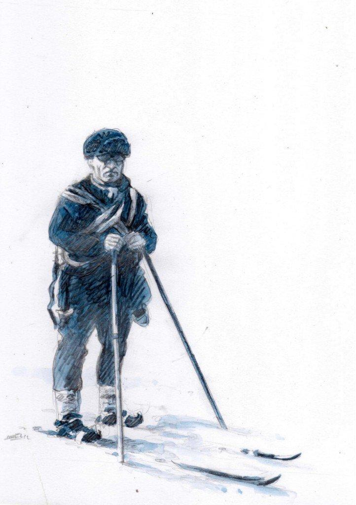 En haut de la montagne, il n'y a rien dans peuples des neiges b545-722x1024