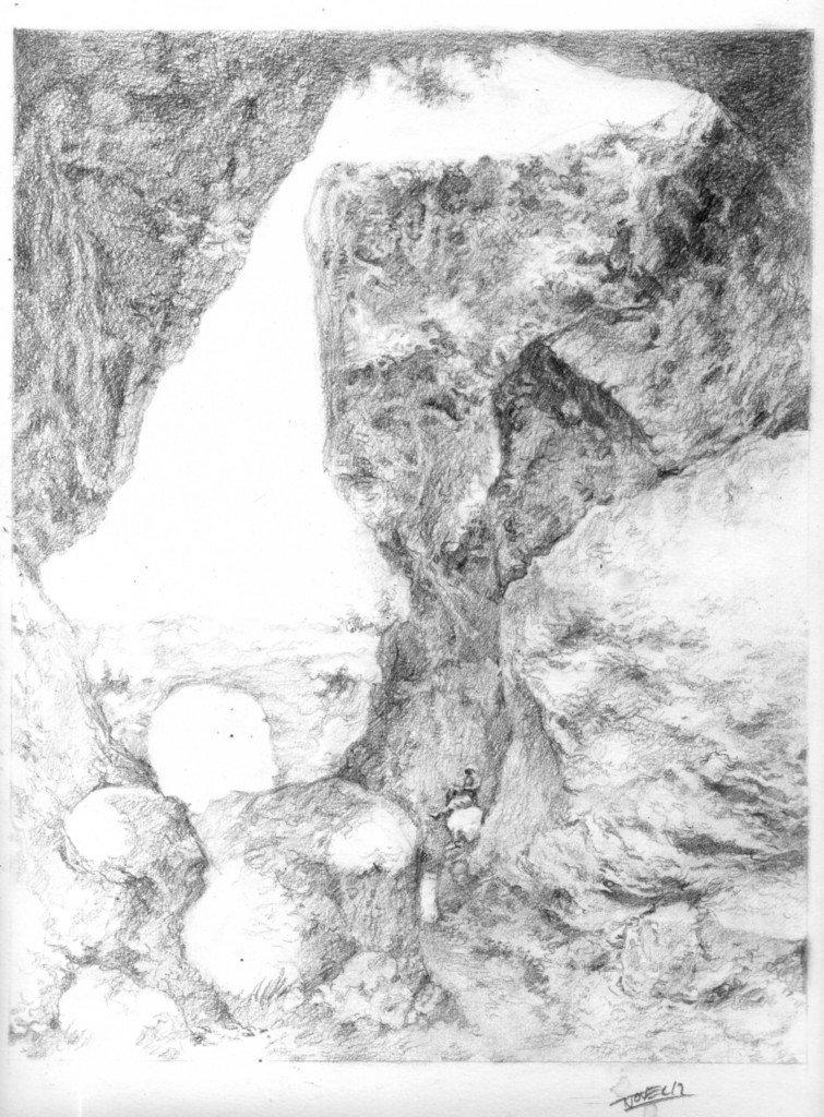 L'explorateur Richard Francis Burton, le 17 avril 1864 à Phlegra Montes (Mars), prenant un repos bien mérité sur un rocher, lors de la première expédition infructeuse à la recherche de l'insaissable koala à bonnet, le