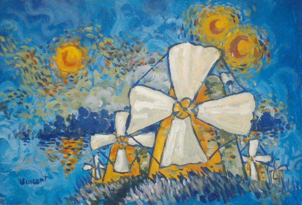 Moulins à voiles solaires du comptoir hollandais d'Elara, 7eme lune de Jupiter, par V. Van Gogh, 1886 dans 1887, uchronie en bande-dessinée p1040002-1024x698