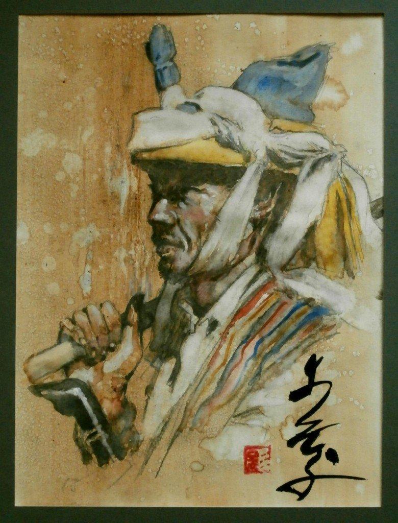Cavalier indonésien, joueur de pasola dans peuples d'Asie p1150015-780x1024