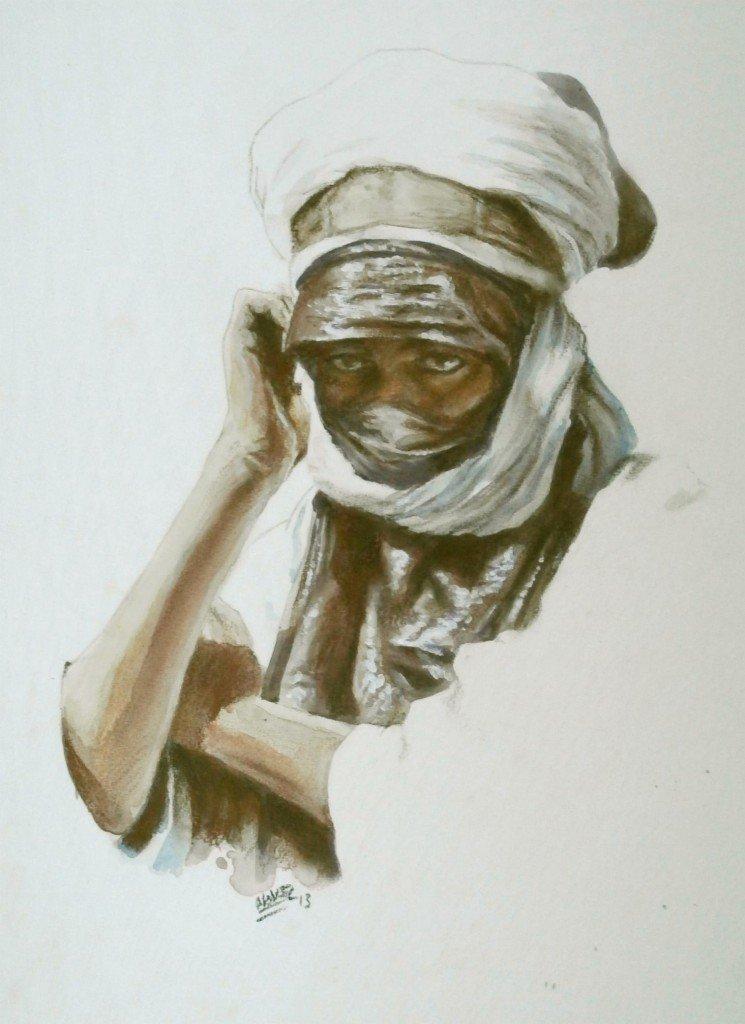 Touareg pensif II dans peuples du désert 2 p1240022-745x1024