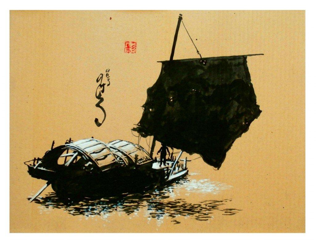 Jonque sur le Huang He 2 dans Estampes & encres p2090045-1024x792