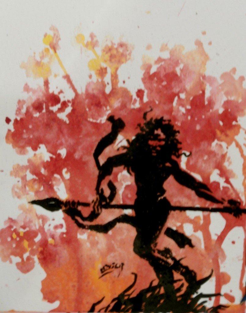 Chasse au lion dans Encres modernes p5160107-805x1024