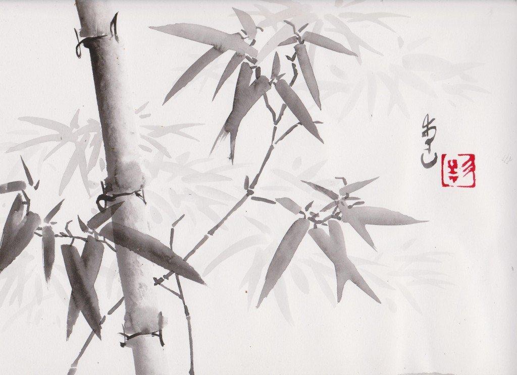 Bambous dans Estampes & encres ze0011-1024x744